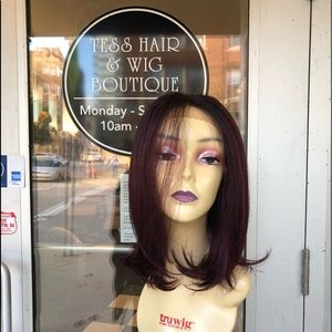 Accessories - Wig ombré burgundy freepart 12 inch bob black root